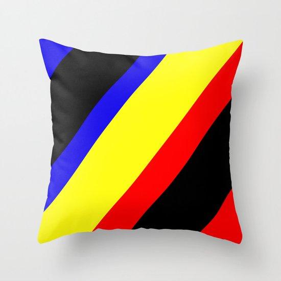 Retro Angled Throw Pillow
