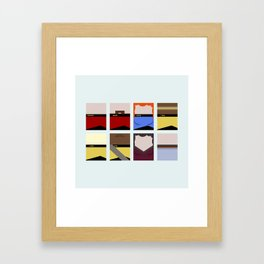 Enterprise 1701 D - Minimalist Star Trek TNG The Next Generation - startrek - Trektangles  Framed Art Print