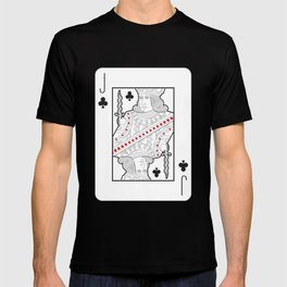 Single playing cards: Jack of Clubs T-shirt