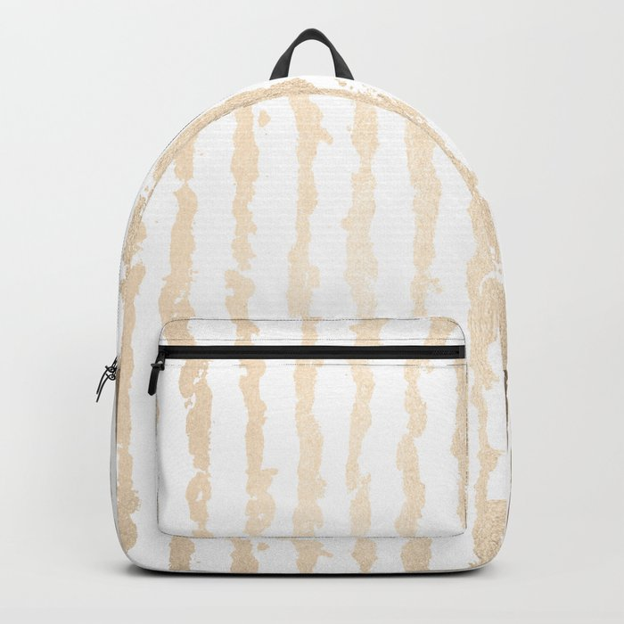 White Gold Sands Vertical Ink Stripes Backpack