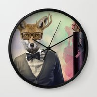 ben giles Wall Clocks featuring BEN by Hagara Stuff