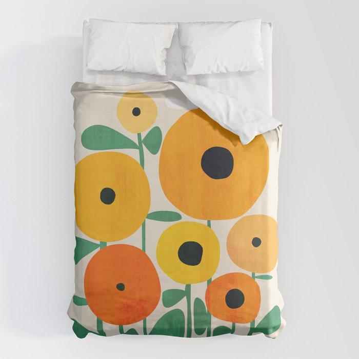Sunflower and Bee Bettbezug