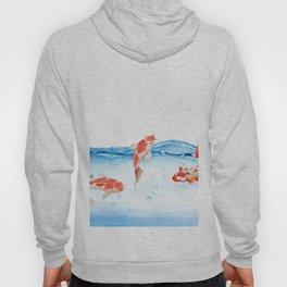 Happy koi fish- fishes sea water lake Hoody