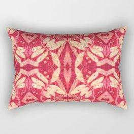 Red Kaleidoscope Rectangular Pillow