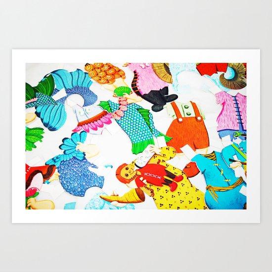 Paper Clothes Art Print