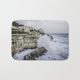 Sea storm photography Apulia Landscape Bath Mat
