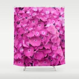 Artful Pink Hydrangeas Floral Design Shower Curtain