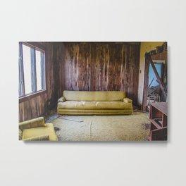 Couch, The Yellow House, Arena, North Dakota 8 Metal Print
