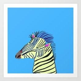 Zebra. Art Print