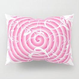 Pink abstract circle Pillow Sham