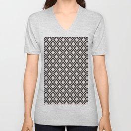 Modern black blush pink wild ethno pattern Unisex V-Neck