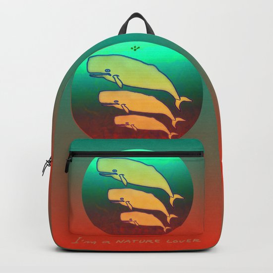 I am a Nature Lover / Whales Backpack