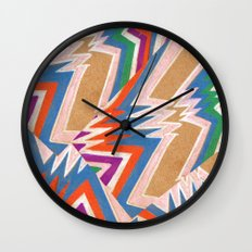 wonky chevron Wall Clock