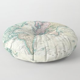 Vintage Map of The World (1801) Floor Pillow