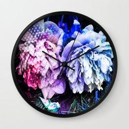 Unicorn Flowers Wall Clock