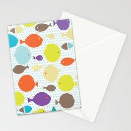 Fish dècor multicolors Stationery Cards