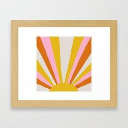 sunshine state of mind Framed Art Print
