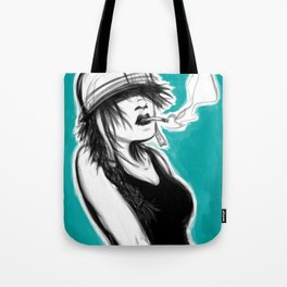 Safety First (Teal) Tote Bag