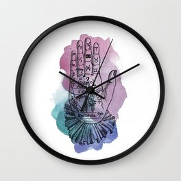 palmistry map Wall Clock