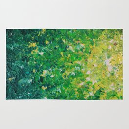 LAKE GRASS - Original Acrylic Abstract Painting Lake Seaweed Hunter Forest Kelly Green Water Lovely Rug