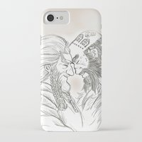 nori iPhone & iPod Cases featuring Headbutt by BlueSparkle