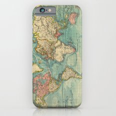 Adventure Awaits (World Map) Slim Case iPhone 6