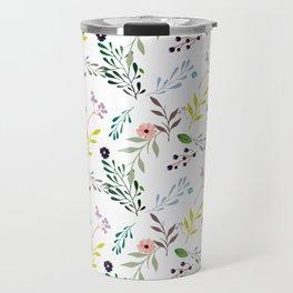 Nature Flower & girl power Travel Mug