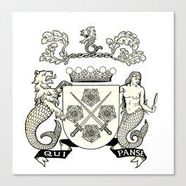 Heraldry Arms Medieval Canvas Print