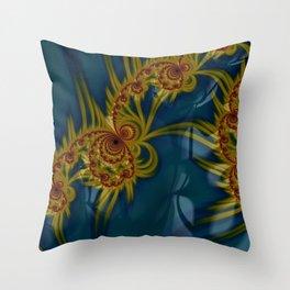 Golden Embroidery Throw Pillow