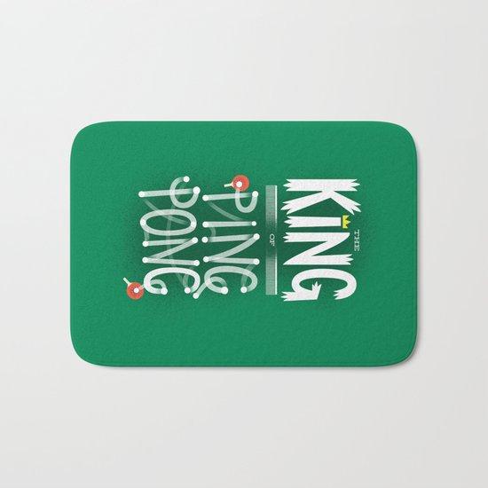 The King of Ping Pong Bath Mat