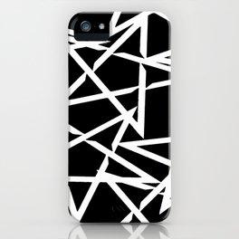 Interlocking White Star Polygon Shape Design iPhone Case