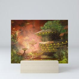 Fabulous Flying Saucer City Fairytale World UHD Mini Art Print