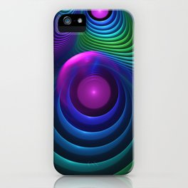 Beautiful Rainbow Marble Fractals in Hyperspace iPhone Case