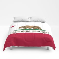 California Republic Flag - Bear Flag Comforters