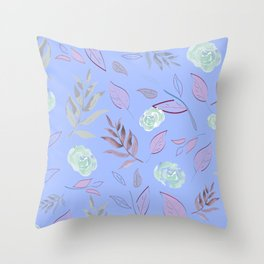 Simple and stylized flowers 10 Throw Pillow