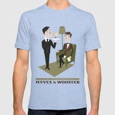 Jeeves & Wooster Mens Fitted Tee MEDIUM Tri-Blue