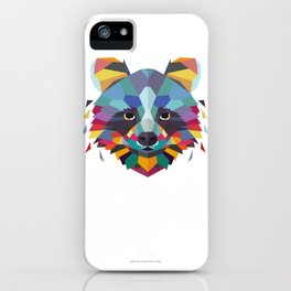 Racoon Color Geometric iPhone Case