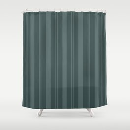 Juniper Berry Green PPG1145-6 Thick & Thin Vertical Stripes on Night Watch PPG1145-7 Shower Curtain