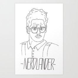 Nerdlander Art Print