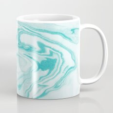 Aimi - spilled ink abstract water wave tropical vacation india ink aqua gender neutral painting boho Mug