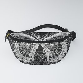 Black and White Butterfly Design Fanny Pack