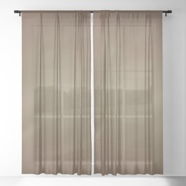Abstract Watercolor Gradient Blend 2 Earthy Brown Tones Sheer Curtain