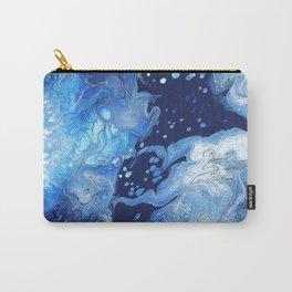 Clarity Abstract Print - Blue Fluid Liquid Art Carry-All Pouch