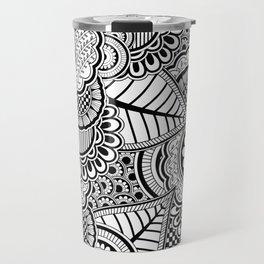 BLACK--MANDALA Travel Mug