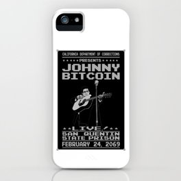 Johnny Bitcoin Live! iPhone Case