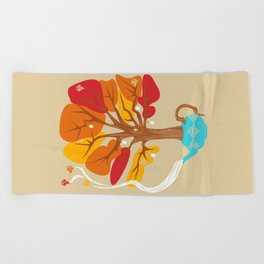 Tea Leaves Beach Towel