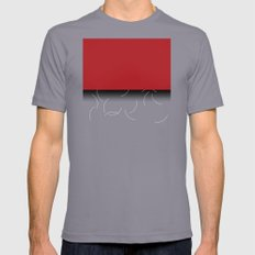 Red and purple pattern Mens Fitted Tee Slate SMALL