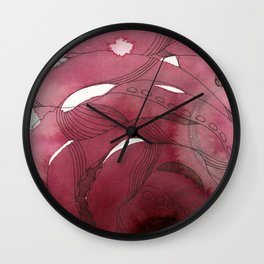 An Intimate of Octopuses Wall Clock