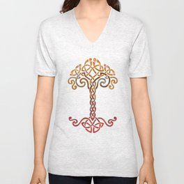 Woven Tree of Life Unisex V-Neck