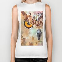 owl Biker Tanks featuring Owl by contemporary